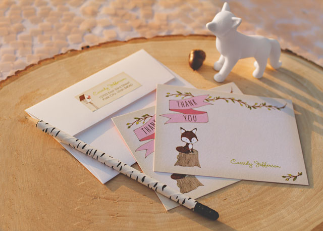 Fox Baby Shower Stationery