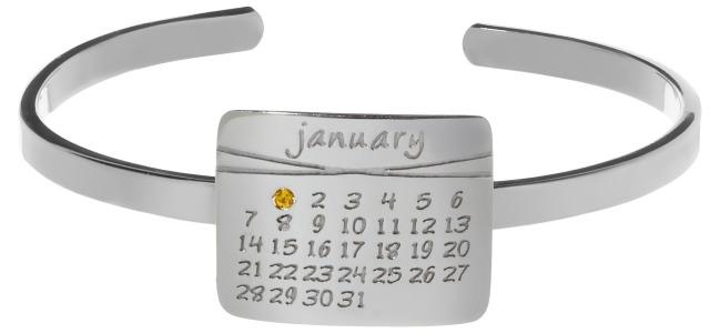 Calendar Cuff Bracelet by dalla nonna