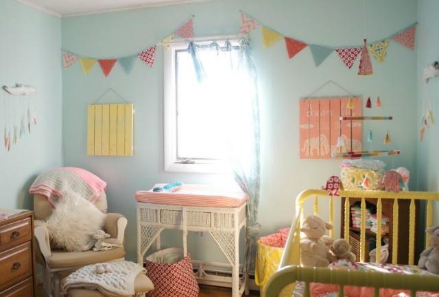 Aqua, Coral and Yellow Bohemian Nursery - Project Nursery