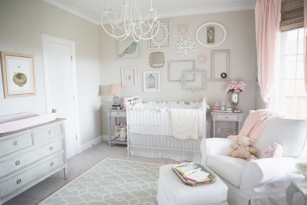 Stunning Shabby Chic Pink and Gray Nursery Project Nursery