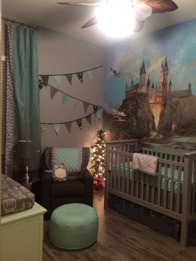 A harry potter inspired nursery project nursery for Themed bedroom wallpaper