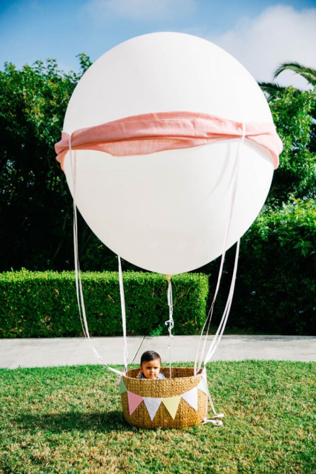 Hot Air Balloon Birthday Party Decor - Project Nursery