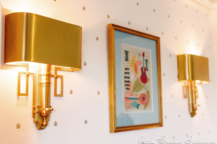 Toddler Room with Gold Sconces