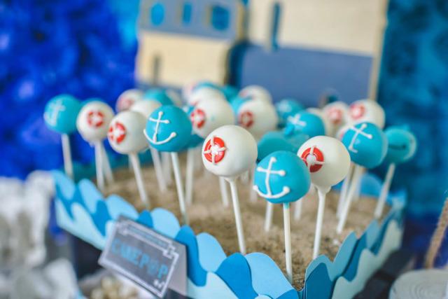 Nautical Cake Pops - Project Nursery
