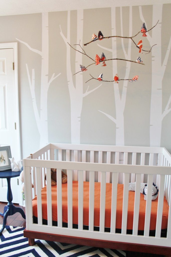 Navy And Orange Woodland Nursery Project