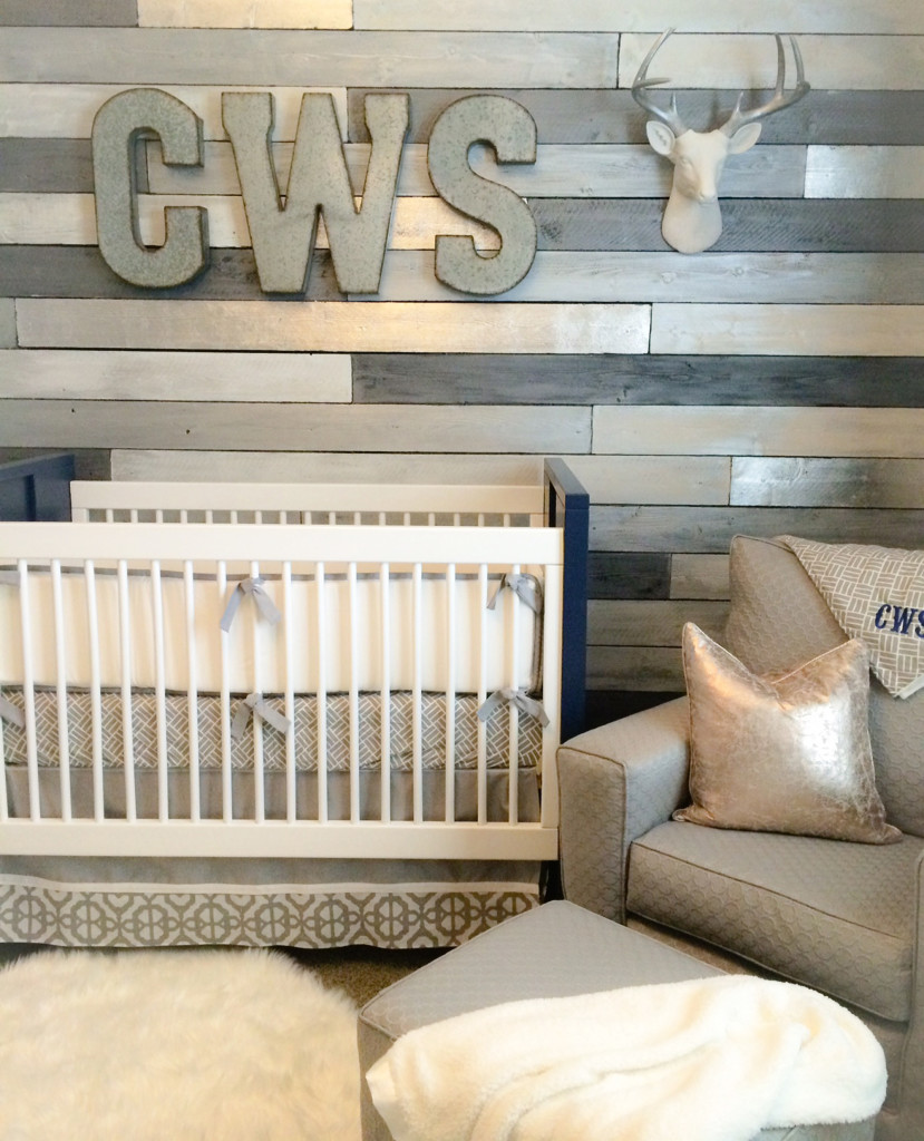 Best Wood For Accent Wall: Metallic Wood Wall Nursery