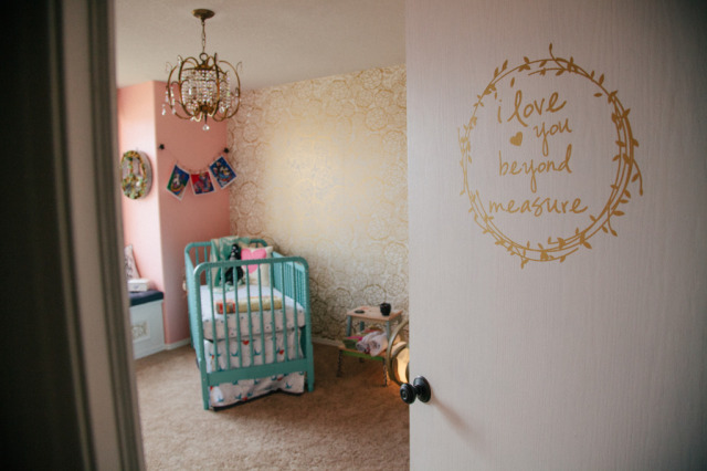 Pink, Turquoise and Gold Vintage Glam Nursery - Project Nursery