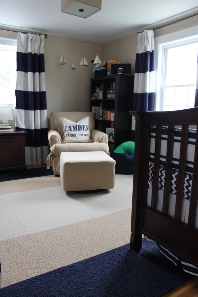 Nautical Nursery with Striped Curtains - Project Nursery