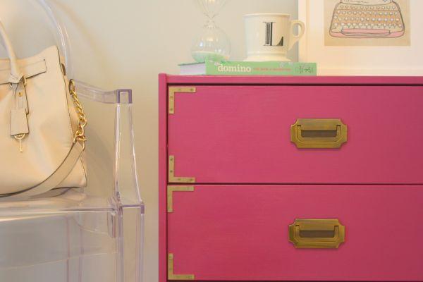 Magenta Campaign Dresser