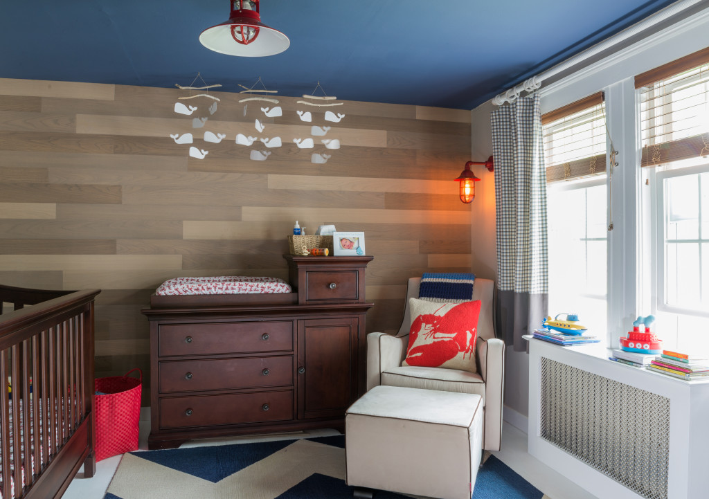 Modern Nautical Nursery with Wood Accent Wall - Project Nursery