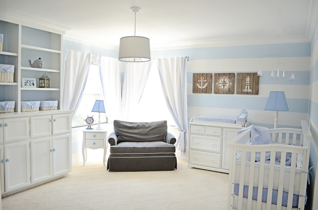 Blue And White Nautical Nursery Project