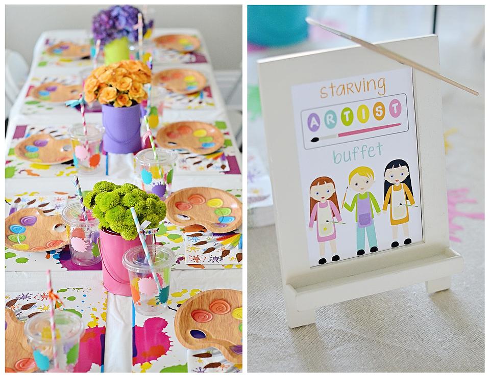 Ariella S 3rd Birthday An Art Party Project Nursery