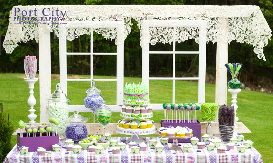 Great ... Sweet Pea Baby Shower Dessert Table