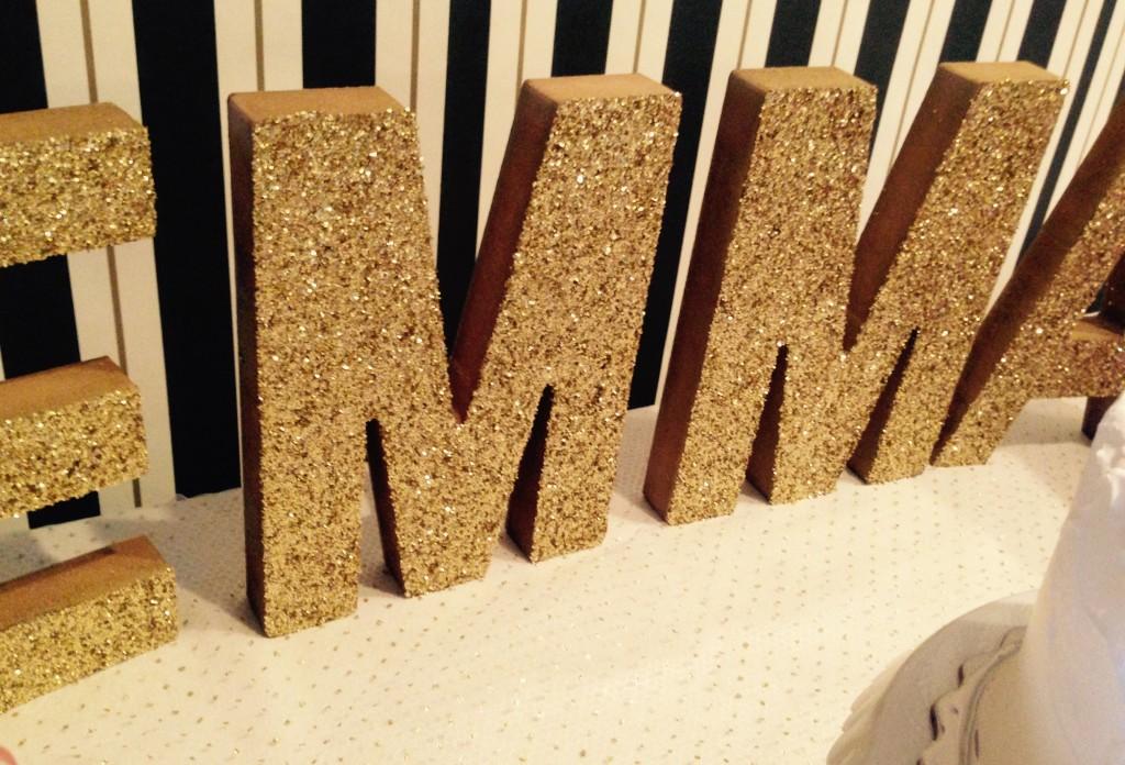 DIY Gold Letters