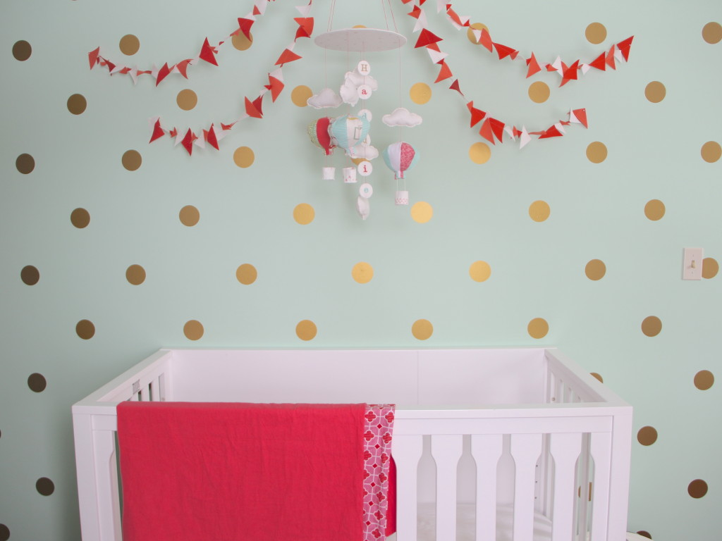 Perfect Gold Polka Dot Wall Decals Project Nursery