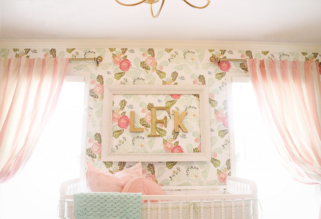 Floral Wallpaper in the Nursery - Project Nursery
