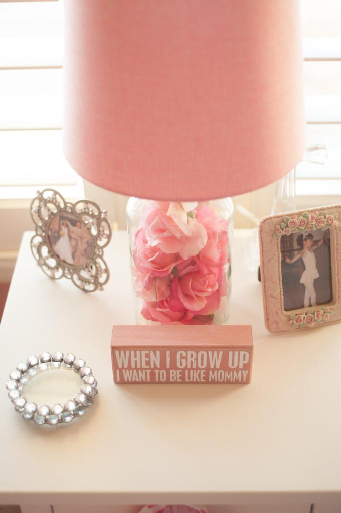 Pink Roses in Lamp