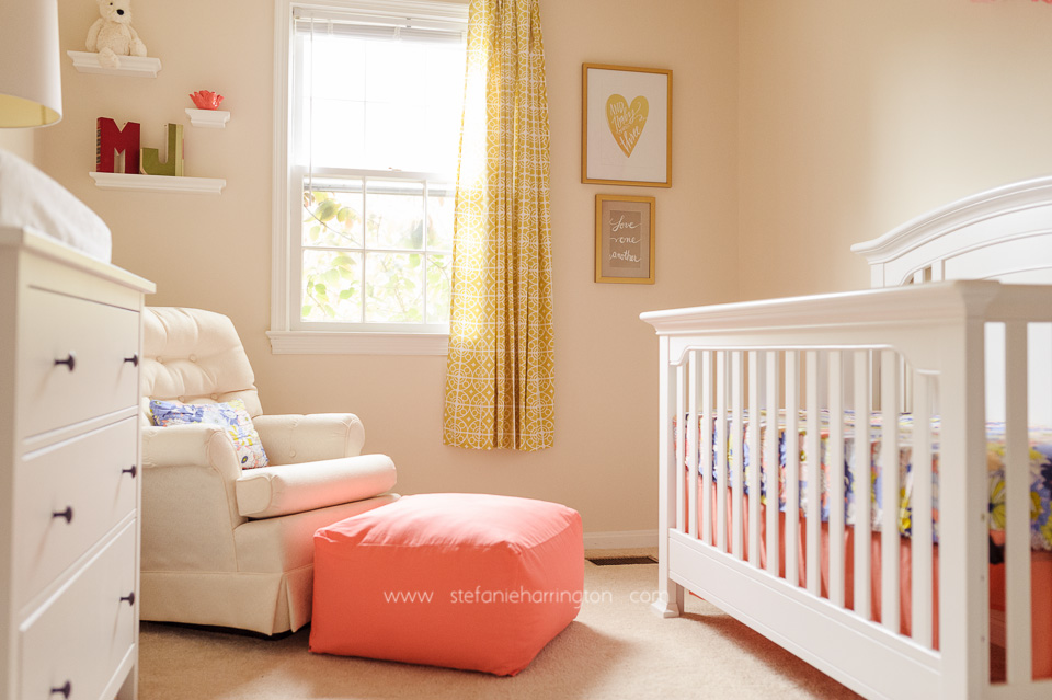 Periwinkle And Coral Baby Girl Nursery Project Nursery
