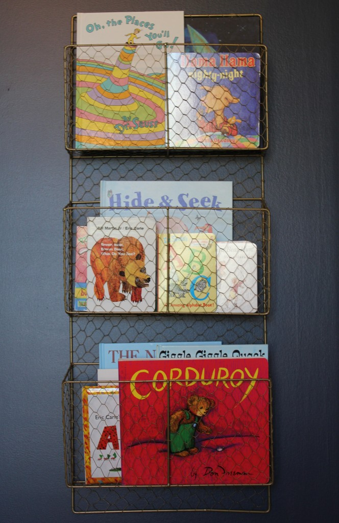 Magazine Holder Baby Book Organization - Project Nursery