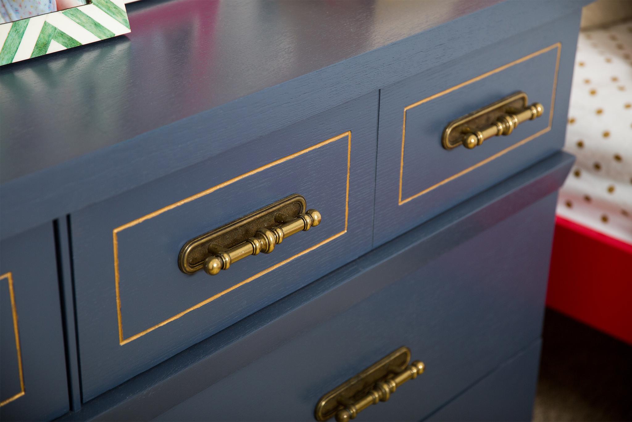 Vintage Navy Blue Dresser