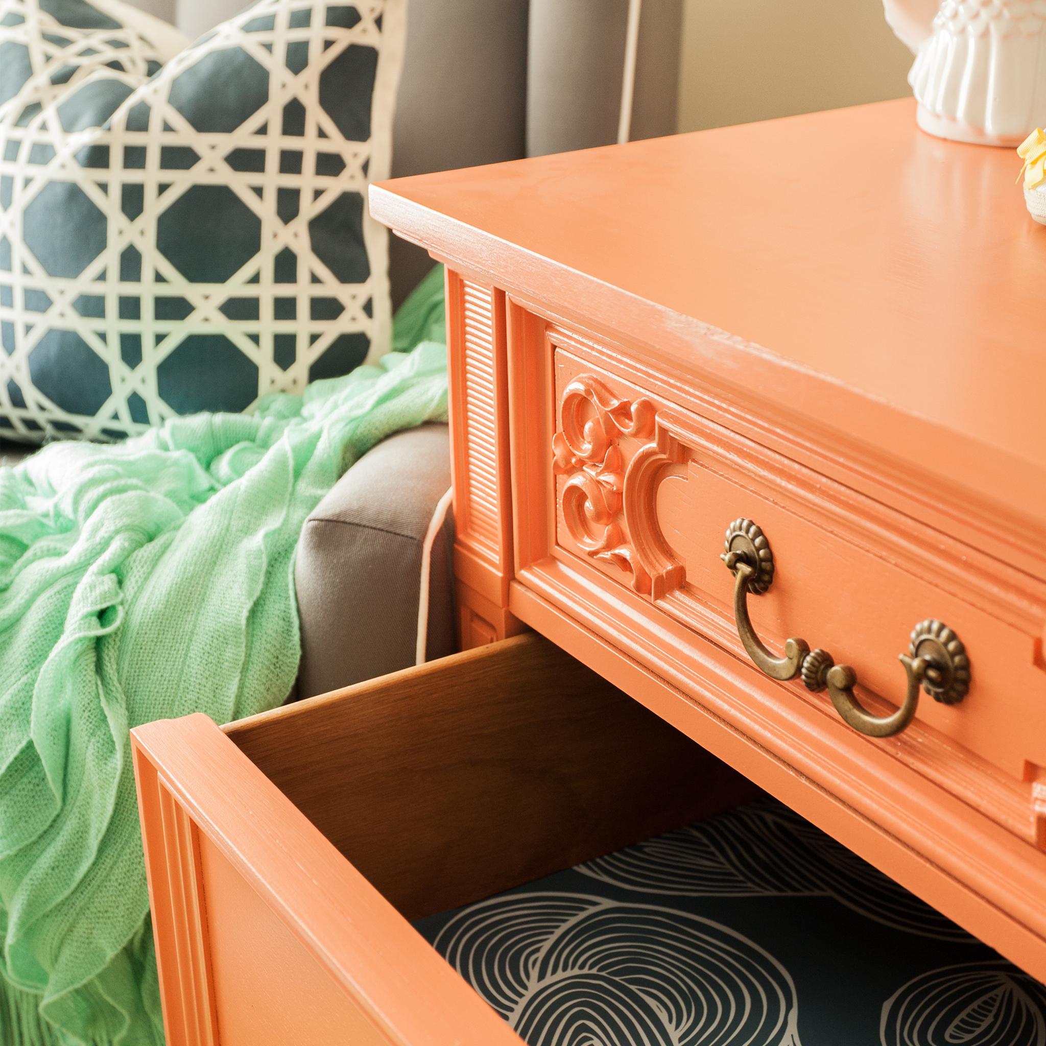 Vintage Orange Dresser