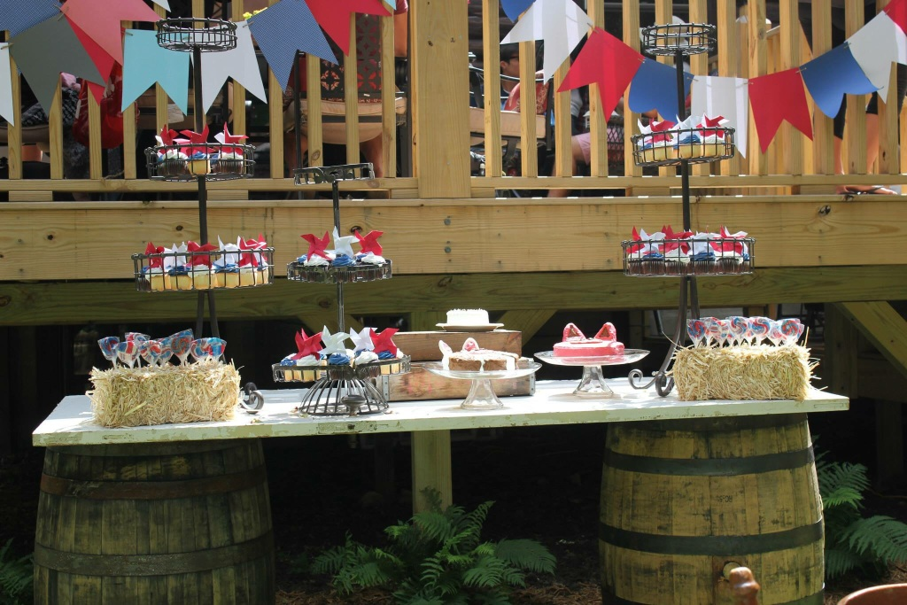 County Themed Dessert Table