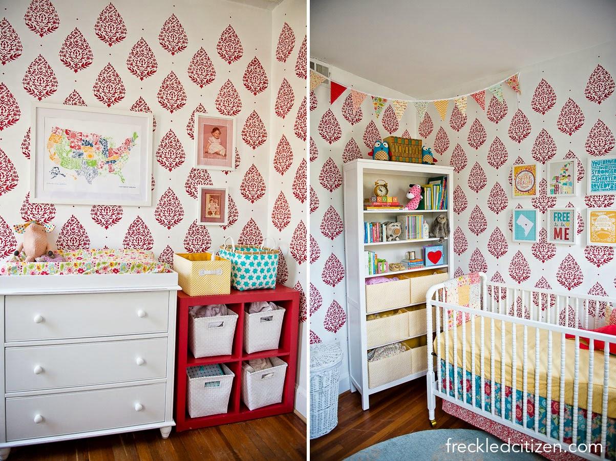 Sari Paisley Allover Stenciled Nursery