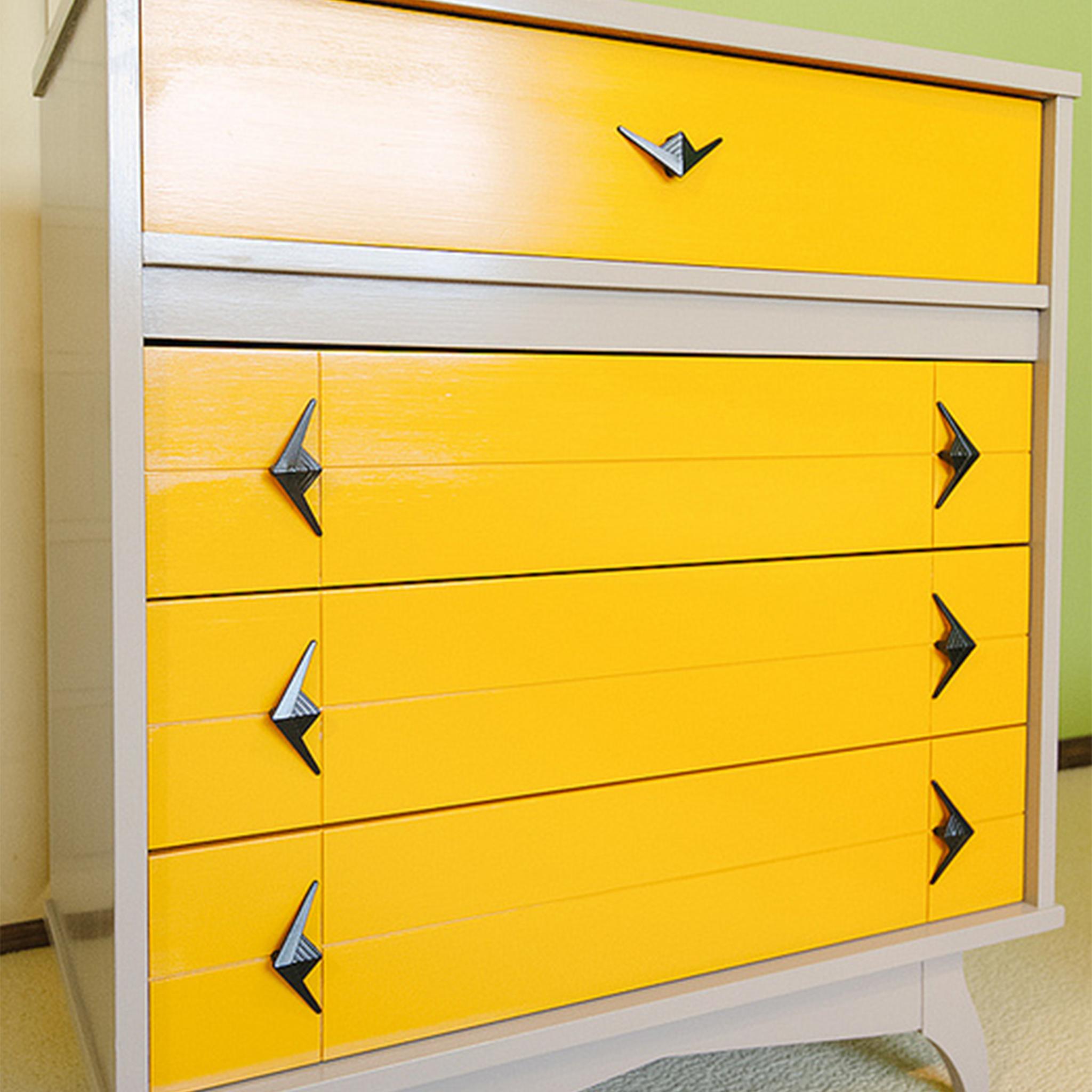 Vintage Yellow Dresser
