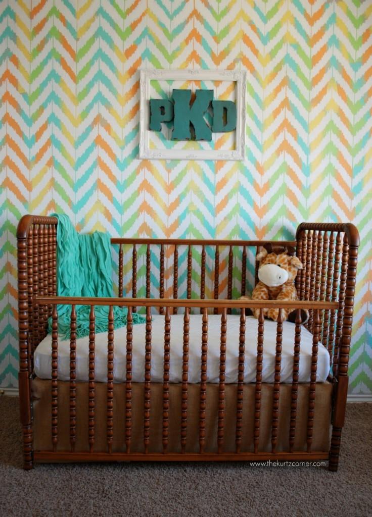 Ikat Zig Zag Gender Neutral Nursery