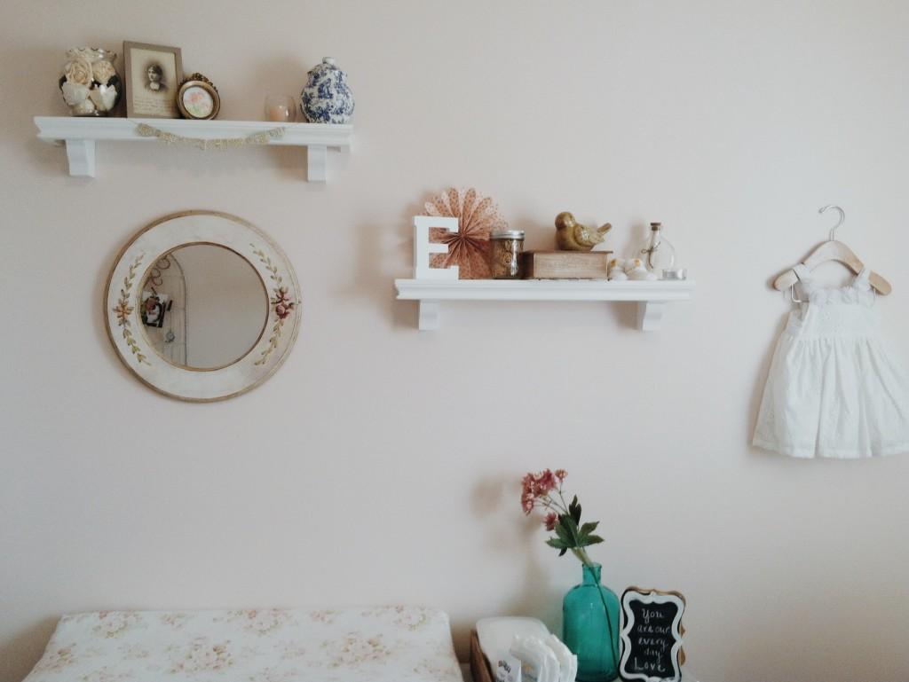 Soft and Feminine Nursery Wall