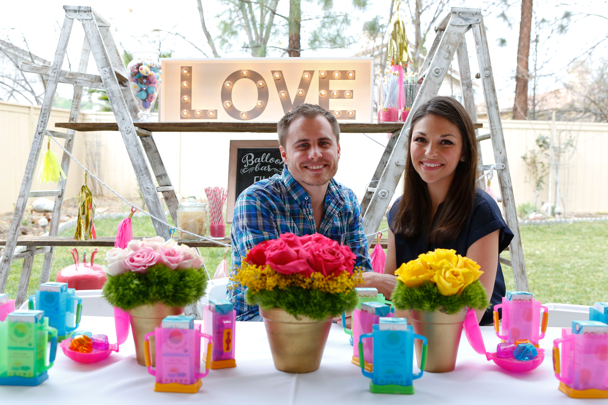 DeAnna Pappas Stagliano and Stephen Stagliano at Baby's First Birthday Party