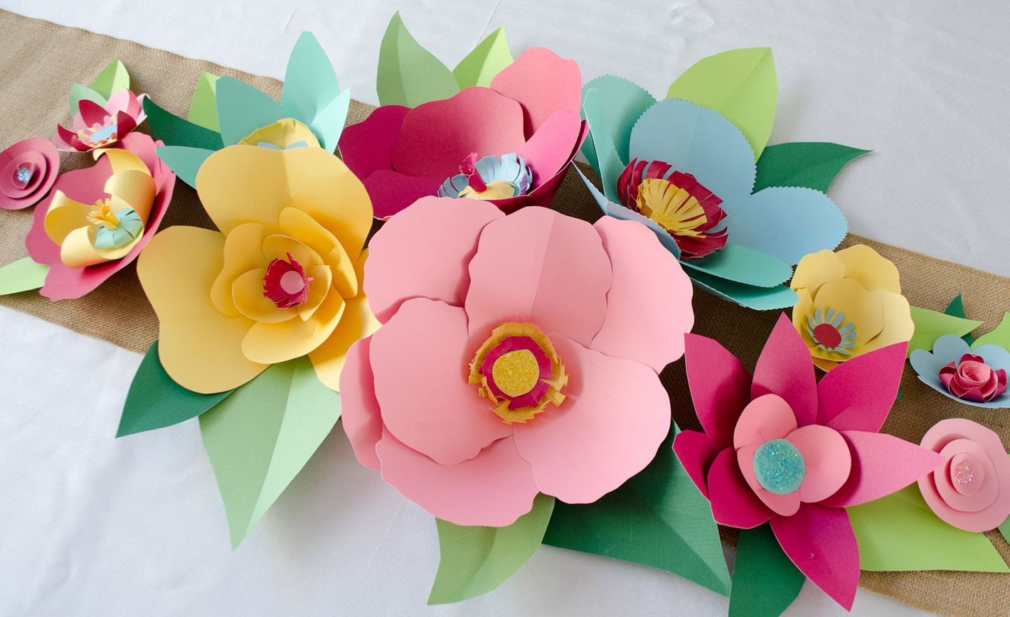 Diy hand cut paper flowers project nursery mightylinksfo