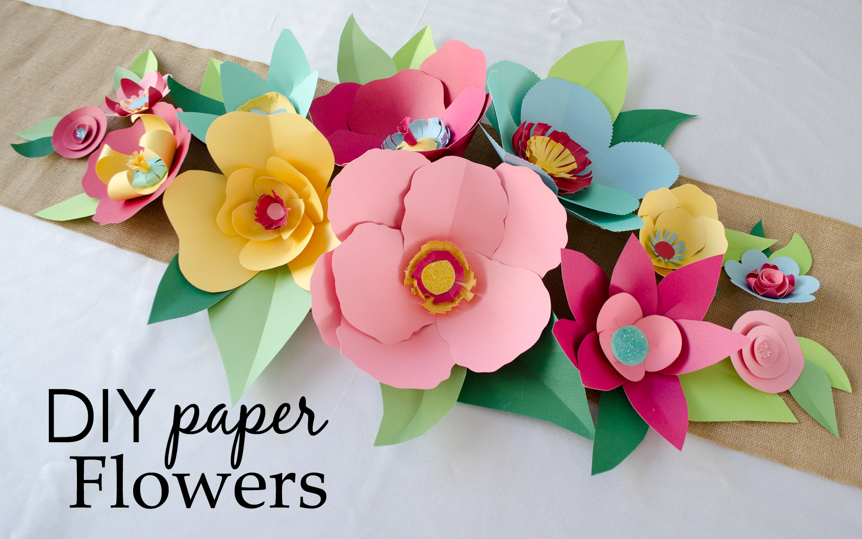 Diy hand cut paper flowers project nursery diy paper flowers mightylinksfo Gallery