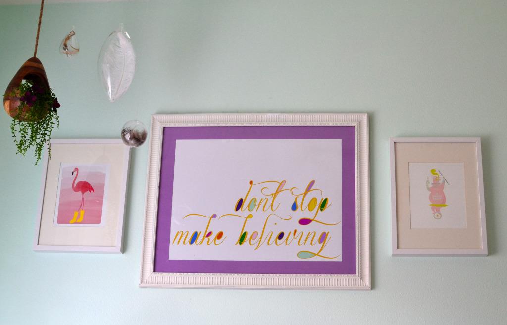 Don't Stop Make Believing Nursery Art - Project Nursery
