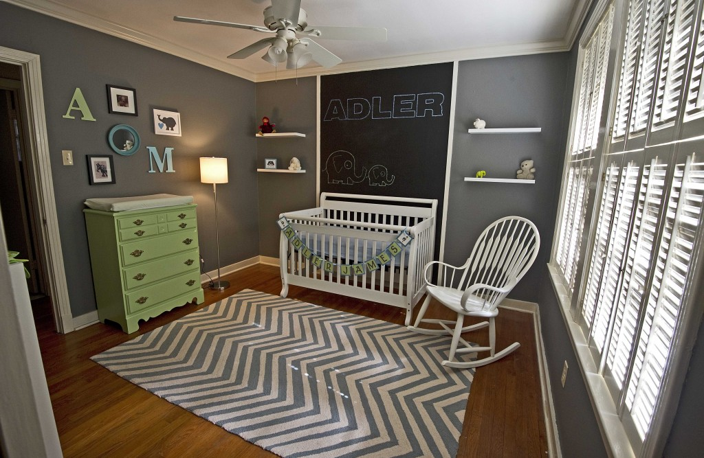 Dark Gray Nursery Adler S Room