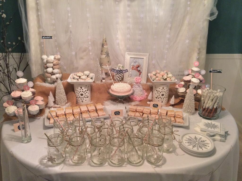 Winter ONEderland Dessert Table