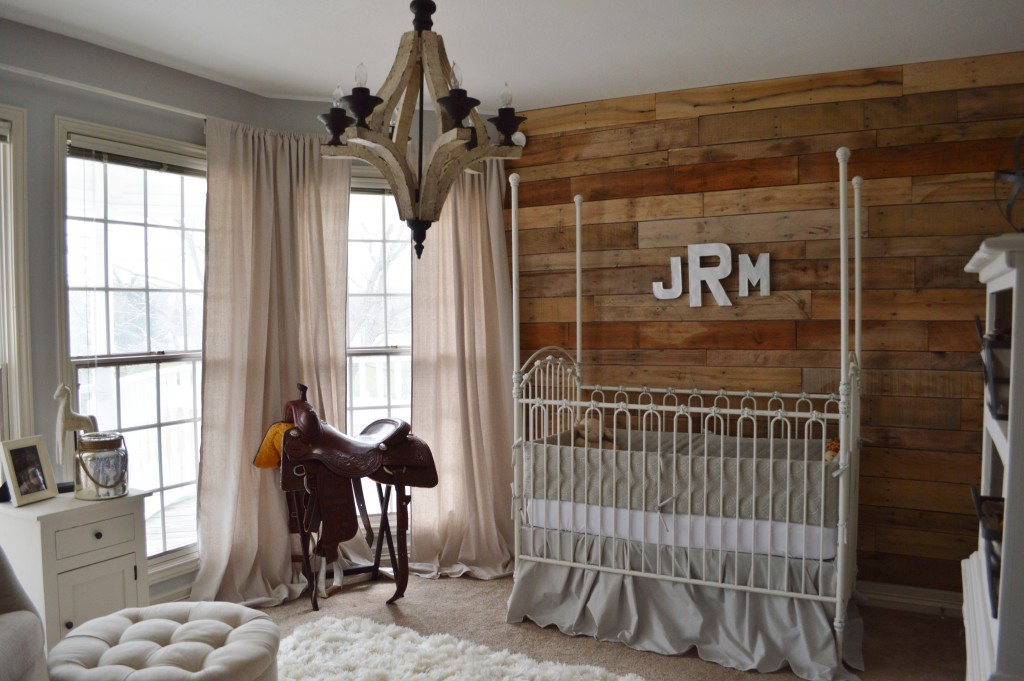 Vintage Nursery with Rustic Wood Accent Wall - Project Nursery