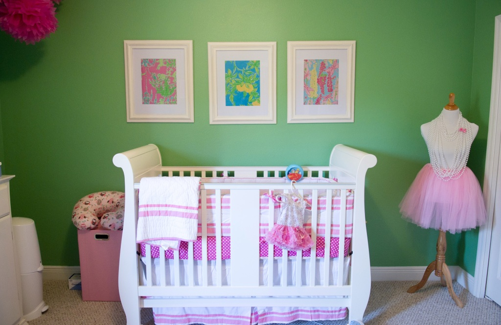 Ideal Green and Pink Lilly Pulitzer Inspired Nursery Project Nursery
