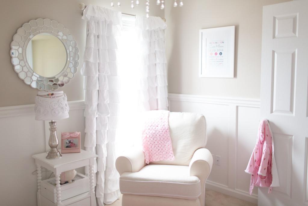 Feminine and Girly Nursery Nook