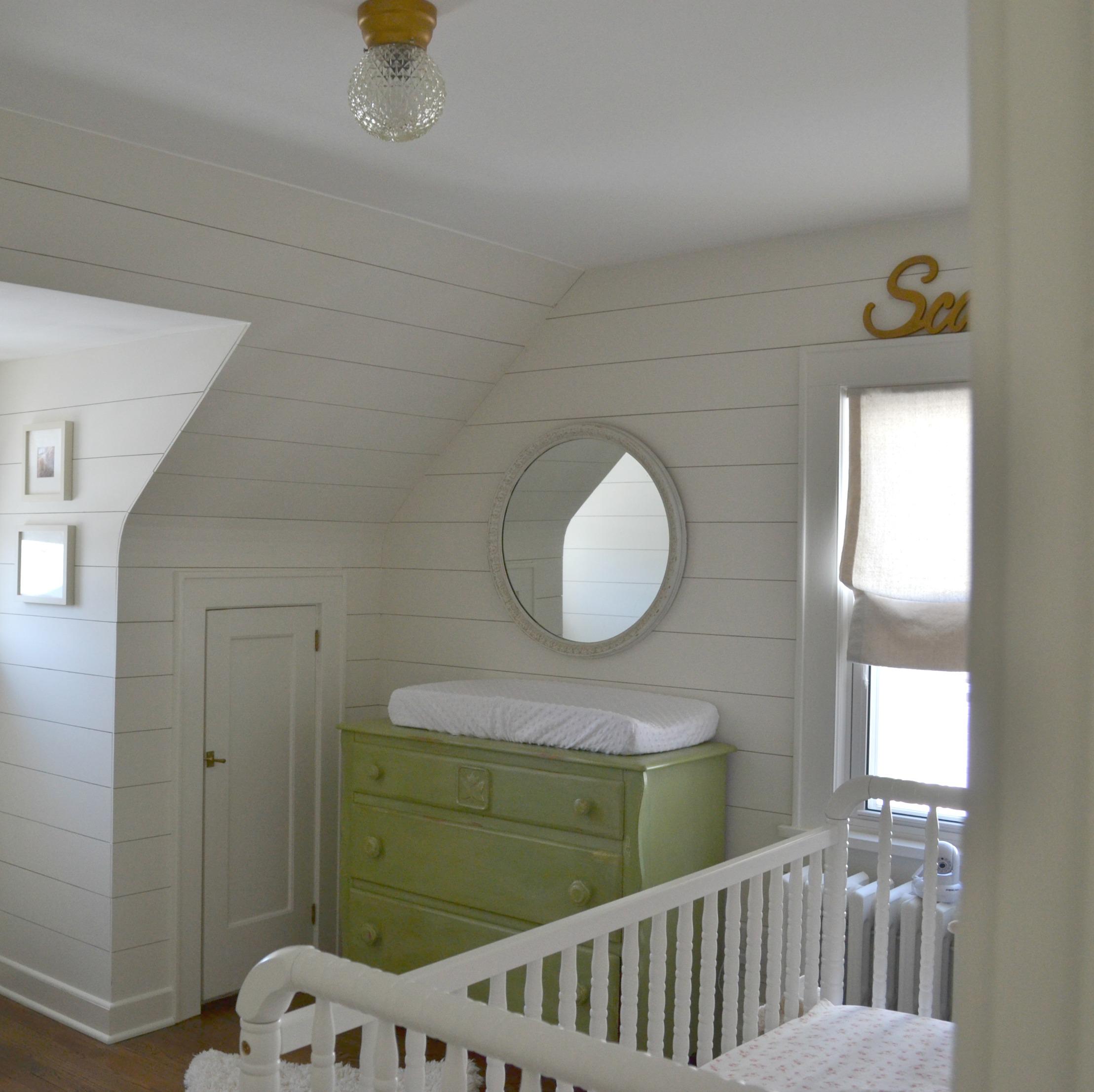 White Wood Planked Nursery