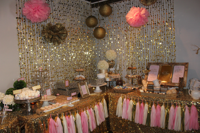 Baby Shower Ideas In Pink And Gold baby it's cold outside pink and gold baby shower - project nursery