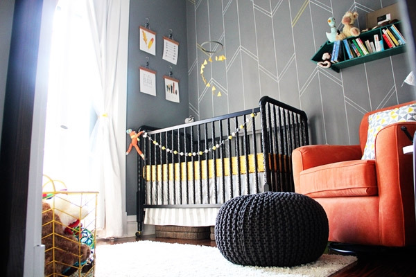 Yellow and Gray Arrow Nursery