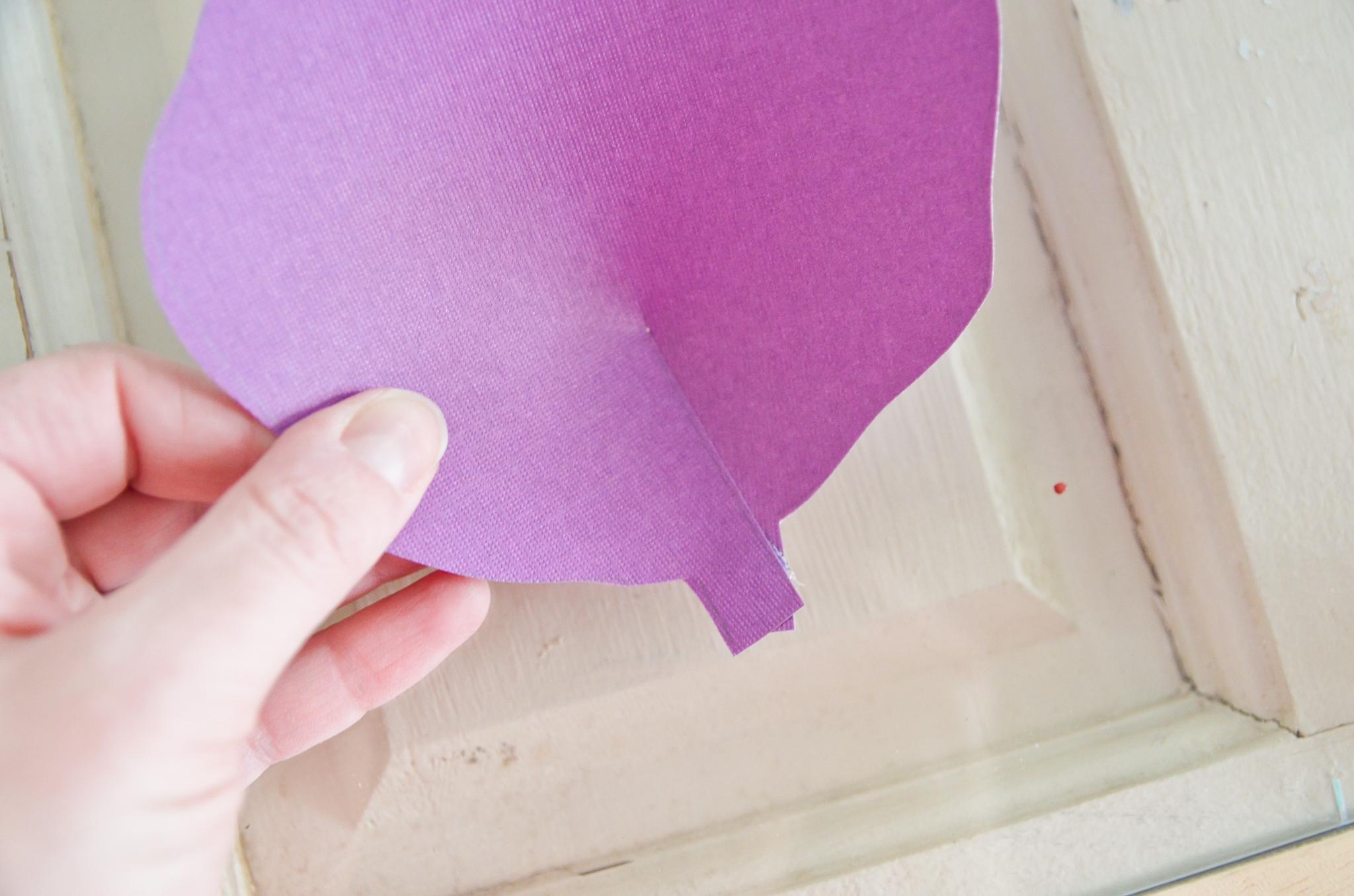 Diy hand cut paper flowers project nursery diy paper flower petal mightylinksfo