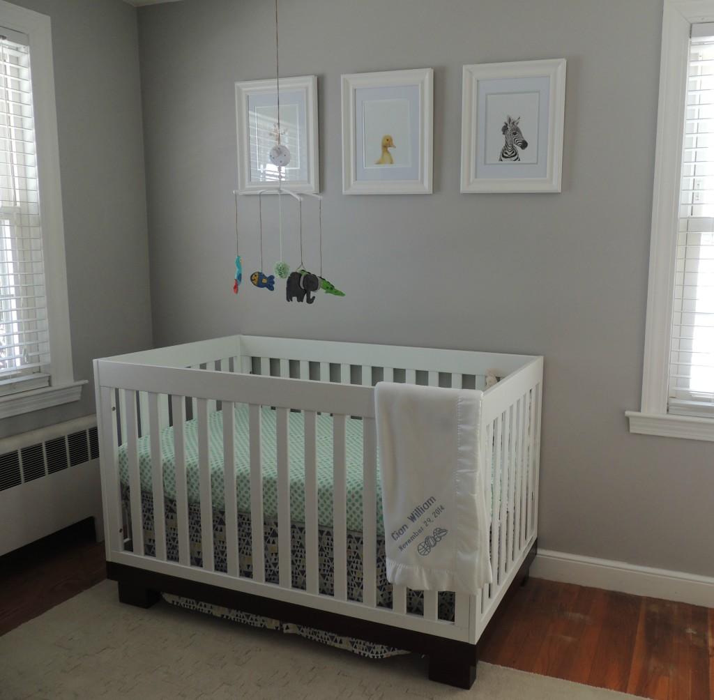 21 Gorgeous Gray Nursery Ideas: Transitional Gray, Mint And Navy Baby Boy Nursery