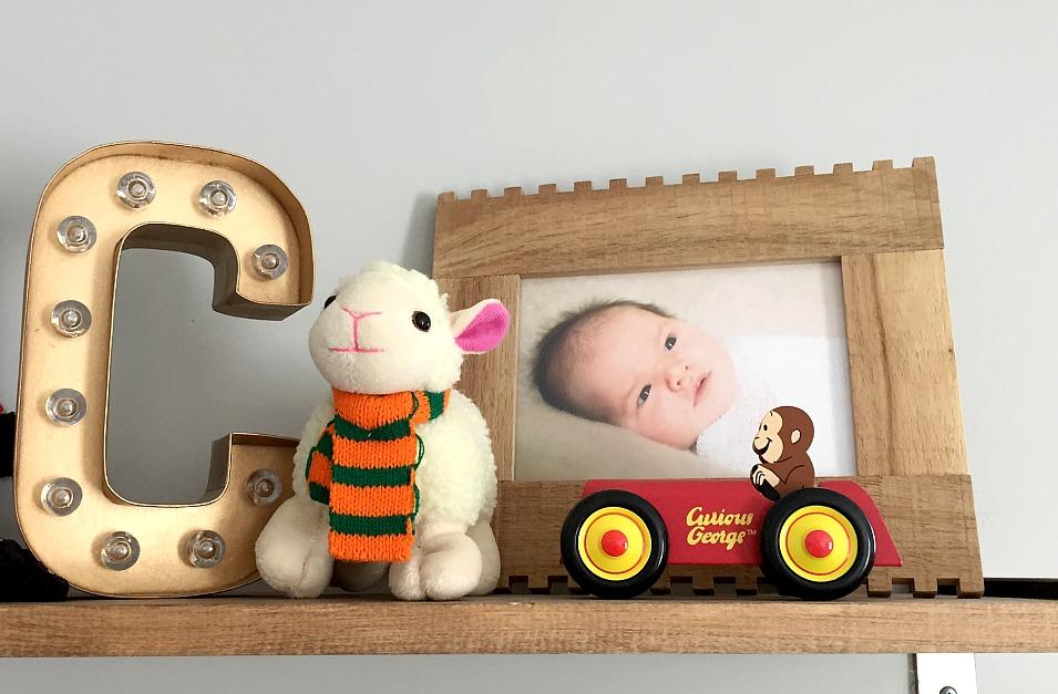 Nursery Shelf Marquee Letter