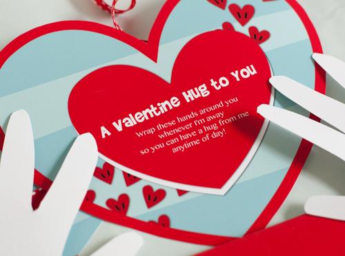 Printable Valentine Hug