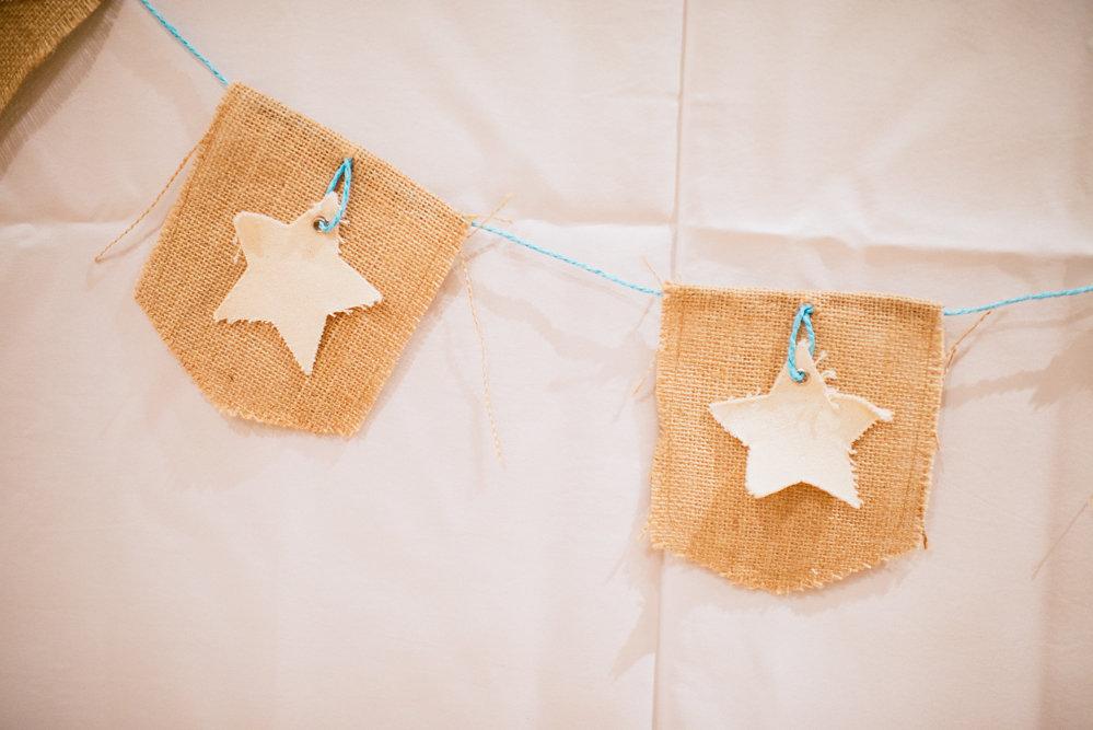 Burlap Star Banner