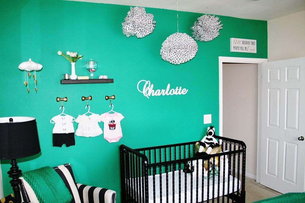 Kate Spade Inspired Emerald Nursery Project Nursery