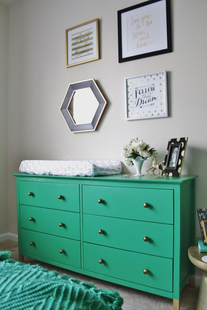 Green Dresser in this Emerald Nursery