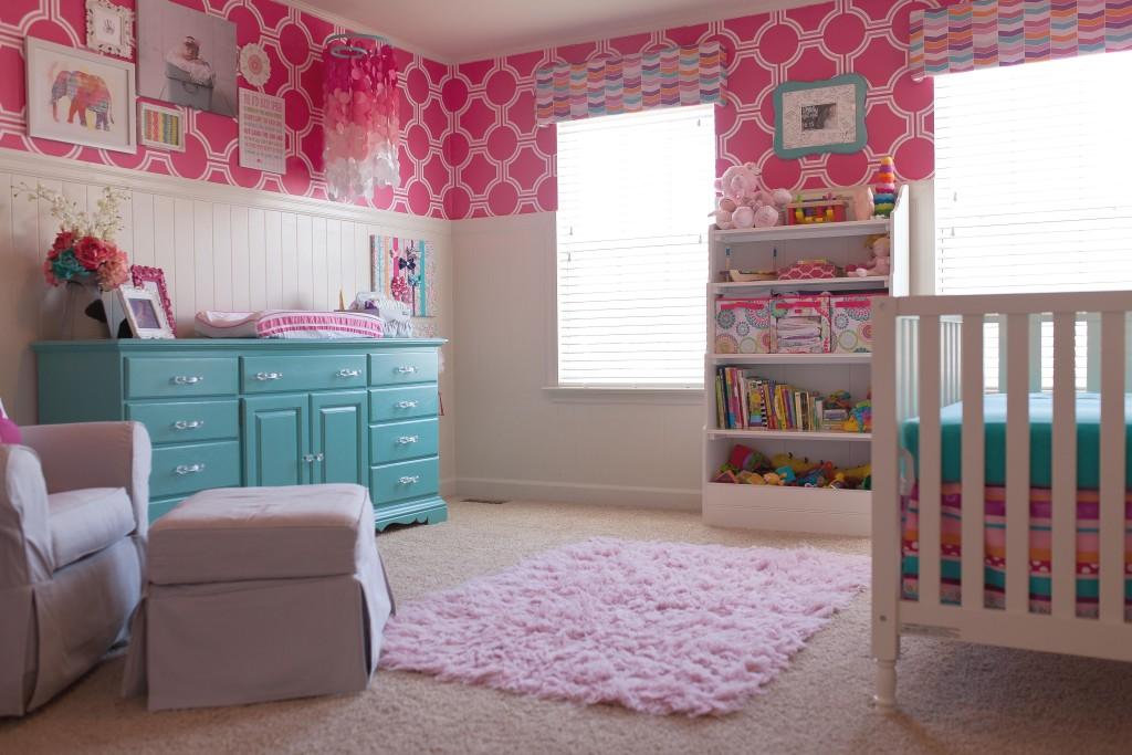 Pink and Teal Nursery